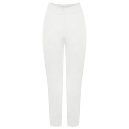 Foil Trapeze White 7/8 Pull on Trouser - White