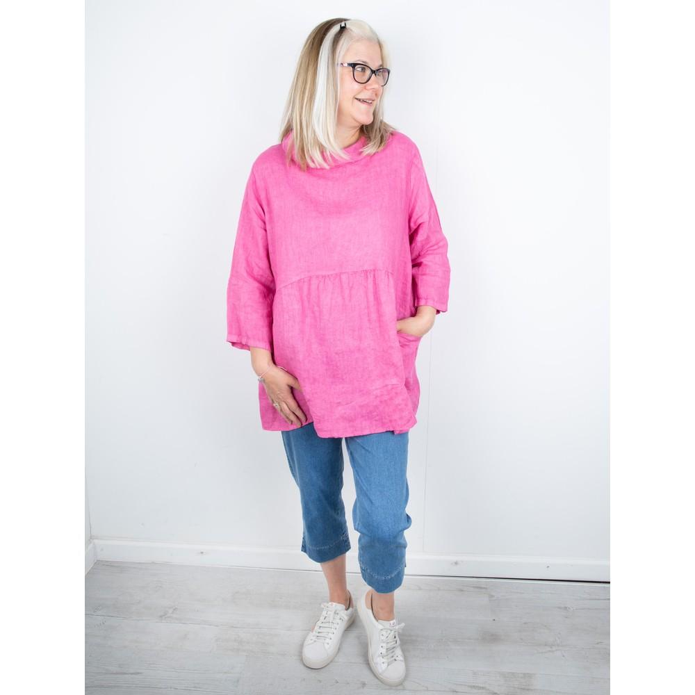 Amazing Woman Lexia Linen Top Pink Confetti