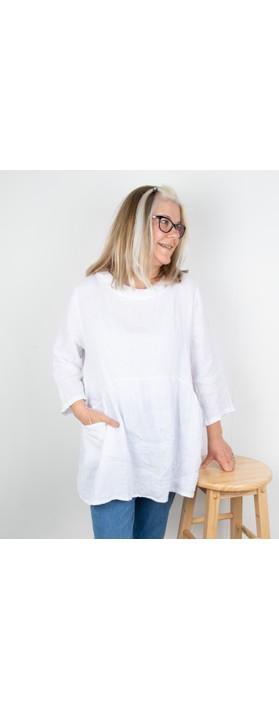 Amazing Woman Lexia Linen Top White
