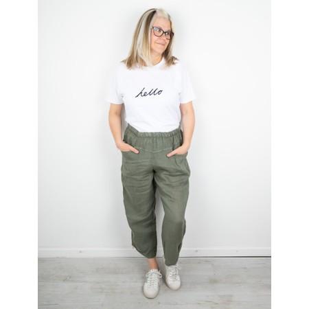 Amazing Woman Ossie Linen Seamed Trouser - Beige
