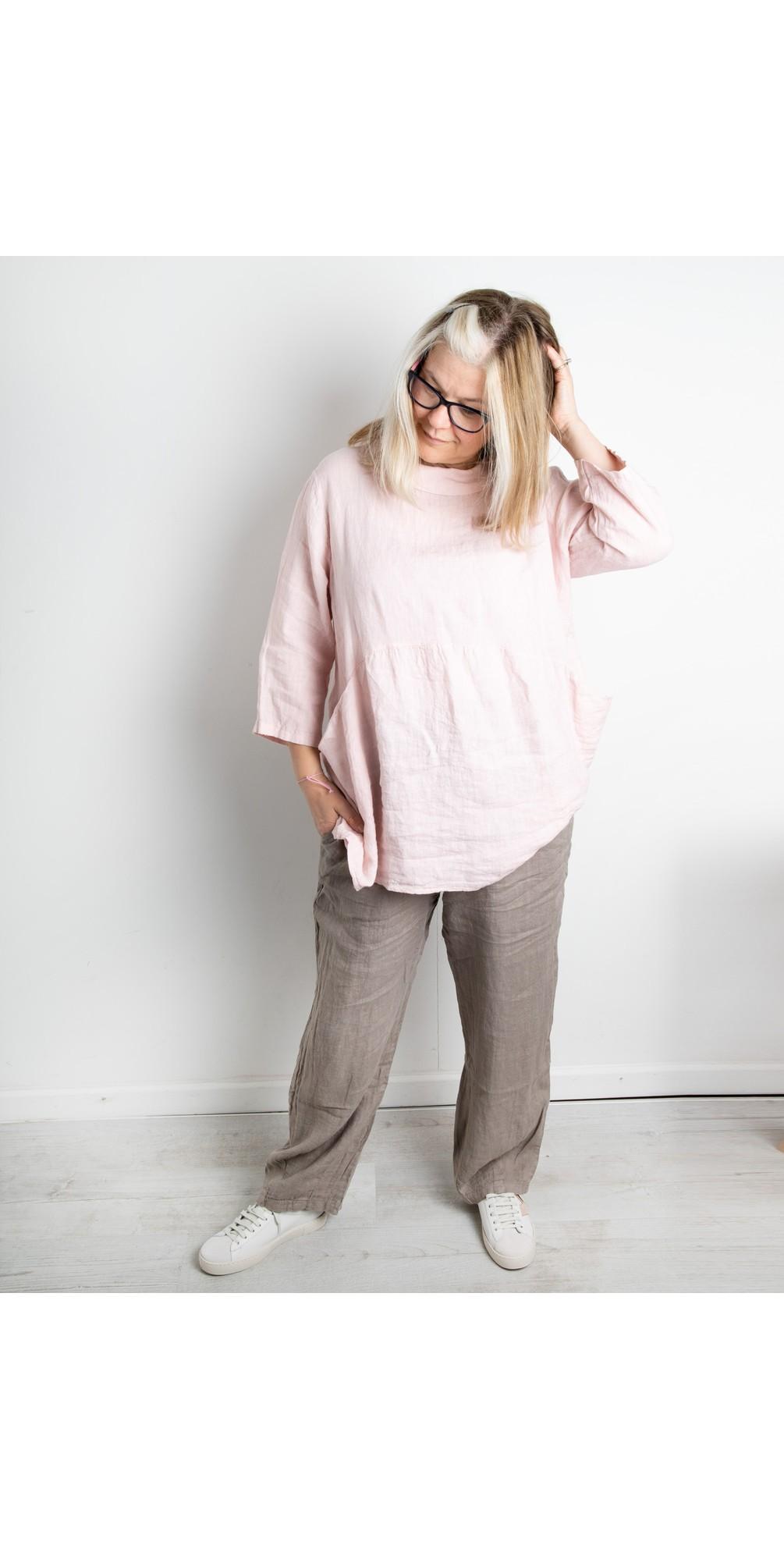 Ossie Linen Seamed Trouser main image
