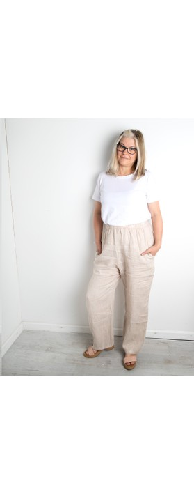 Amazing Woman Ossie Linen Seamed Trouser Natural