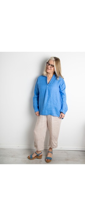 Amazing Woman Orla Cropped Linen Trouser Natural