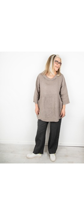 Amazing Woman Ossie Linen Seamed Trouser Charcoal
