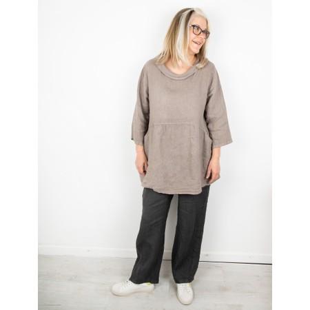 Amazing Woman Ossie Linen Seamed Trouser - Black