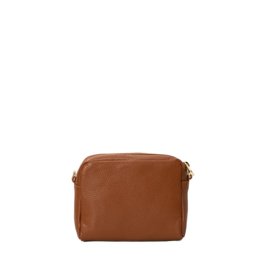 Gemini Label Bags Minnie Cross Body bag Dark Tan