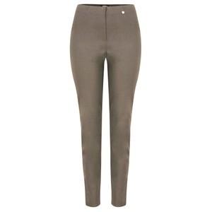 Robell Bella 78cm Slim Fit Full Length Trouser - Beige