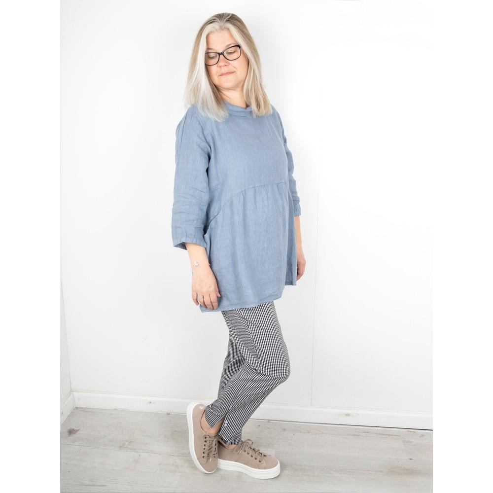 Amazing Woman Lexia Linen Top Denim Blue