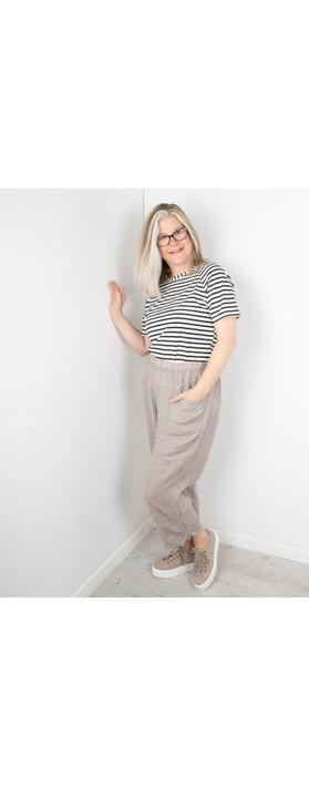 Amazing Woman Orla Cropped Linen Trouser Fango