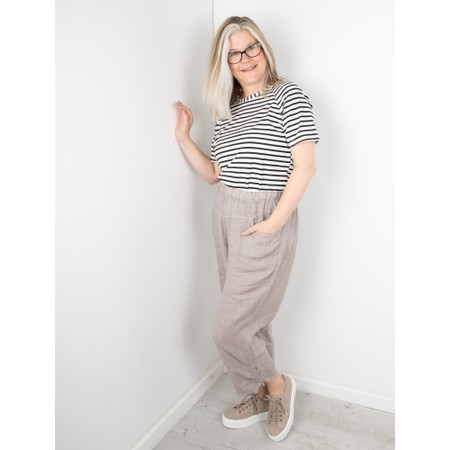 Amazing Woman Orla Cropped Linen Trouser - Brown