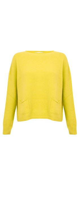 Amazing Woman Jodie Front Pocket Supersoft Knit Jumper Limon