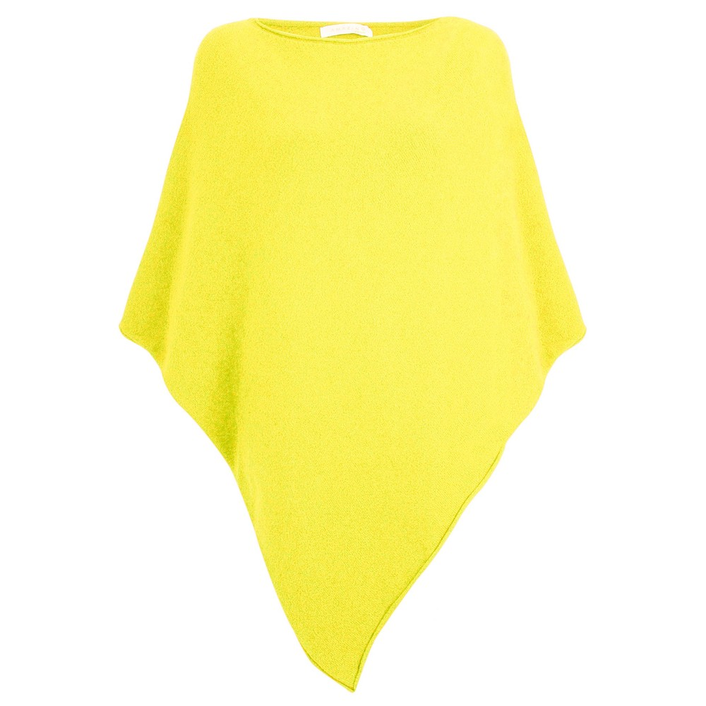 Amazing Woman Poncho in Supersoft Knit  Limon