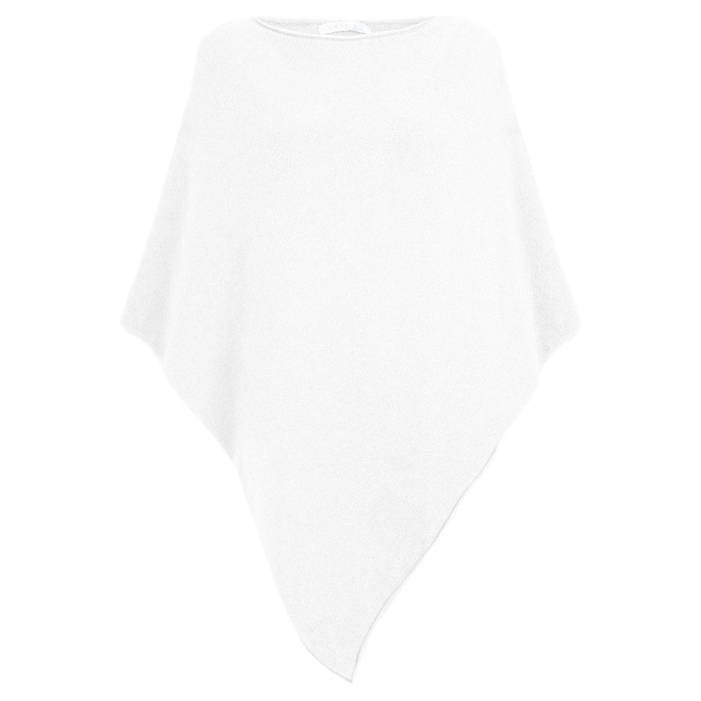 Amazing Woman Poncho in Supersoft Knit  White