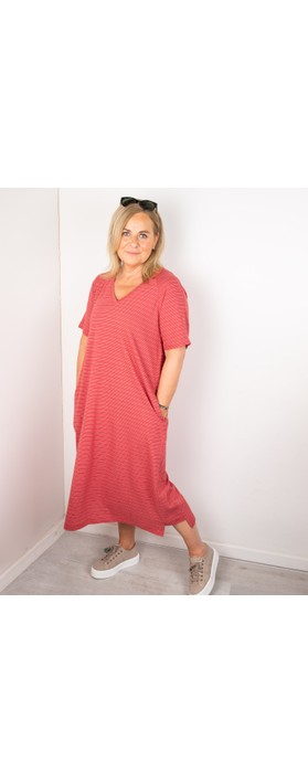 Mes Soeurs et Moi Takwa Stripe Long Dress Cerise