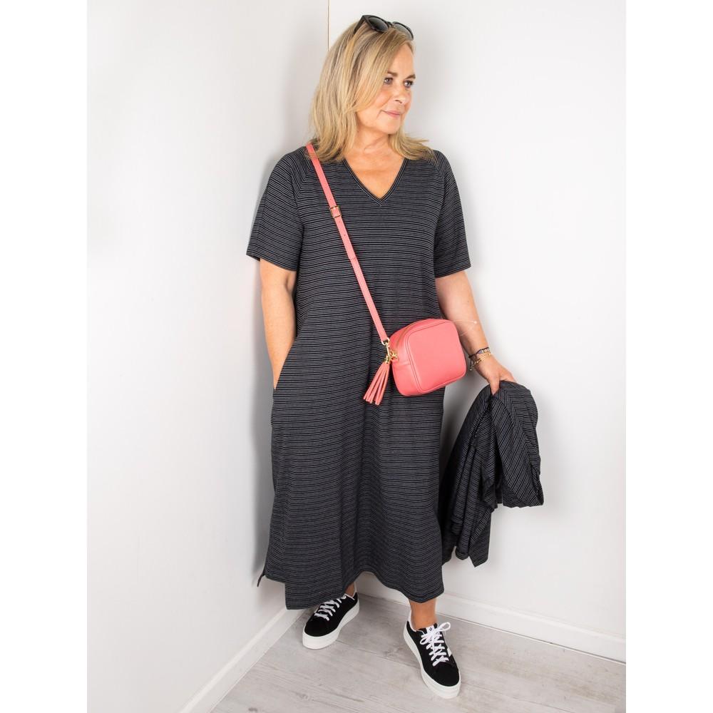 Mes Soeurs et Moi Takwa Stripe Long Dress Black