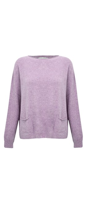 Amazing Woman Jodie Front Pocket Supersoft Knit Jumper Lilac