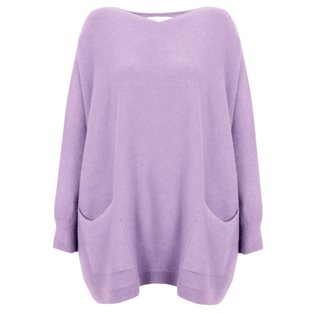 Amazing Woman Caryf X Round Neck Oversized Jumper Lilac