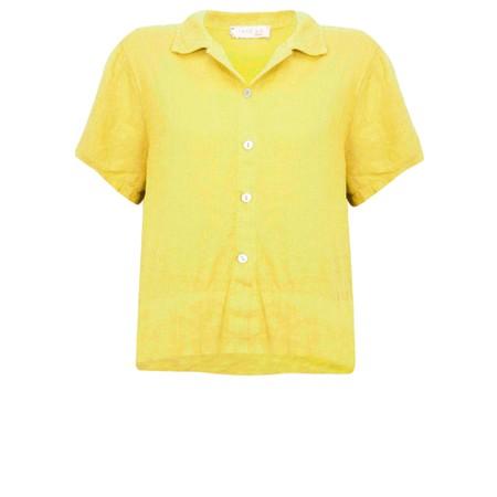 Amazing Woman Marilyn Boxy Linen Shirt - Yellow