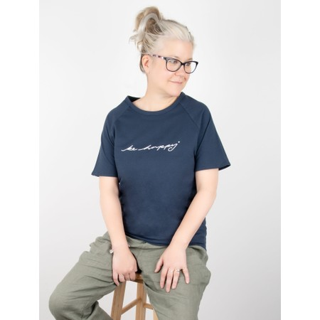 Chalk Darcy Be Happy Top - Blue