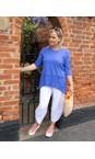 Focus Blueberry 3/4 Sleeve Pocket Tunic