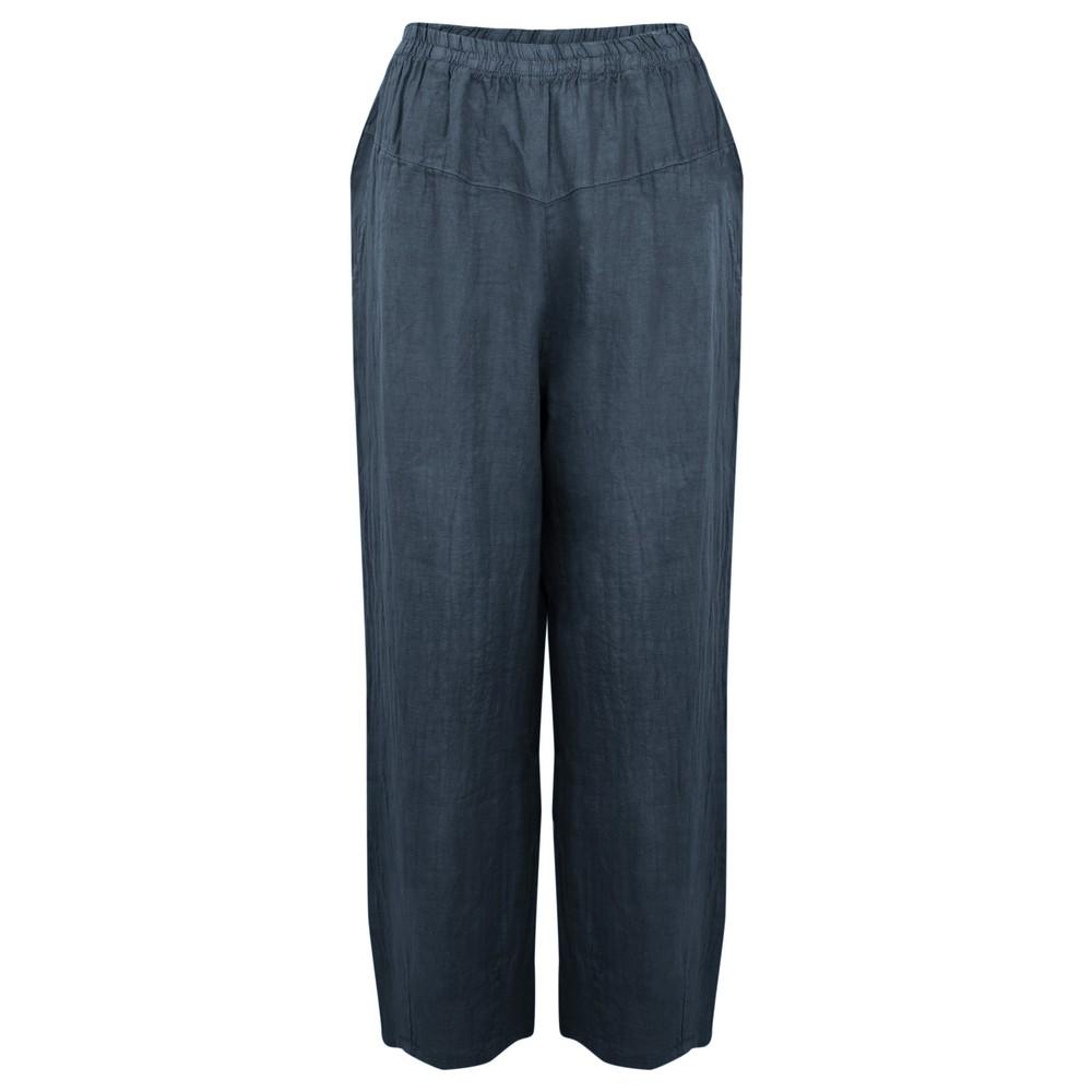 Amazing Woman Ossie Linen Seamed Trouser Navy