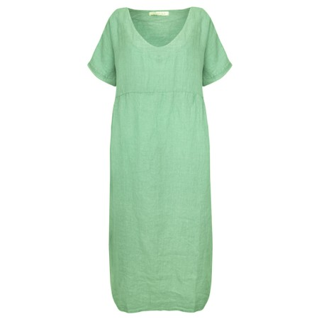 Amazing Woman Tesa Maxi Linen Dress - Green