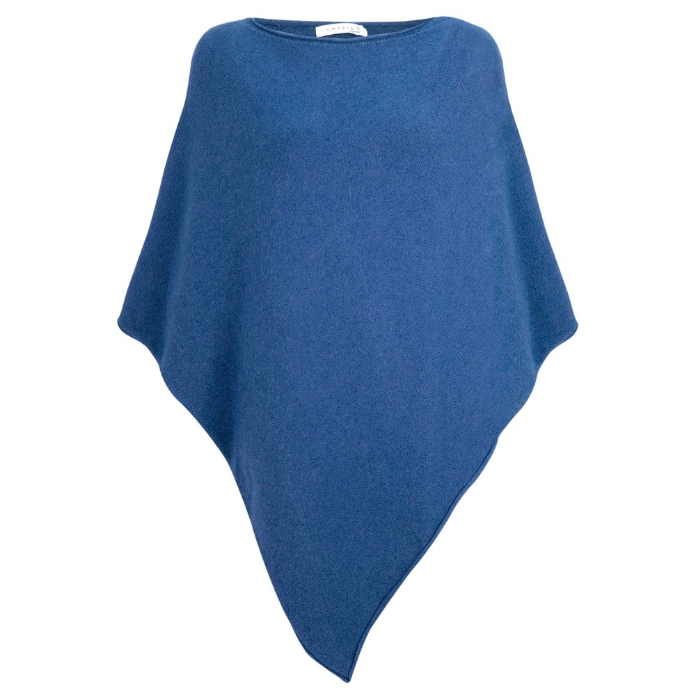 Amazing Woman Poncho in Supersoft Knit  Summer Blue