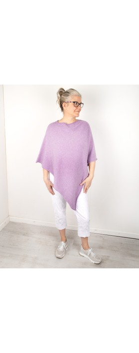 Amazing Woman Poncho in Supersoft Knit  Lilac
