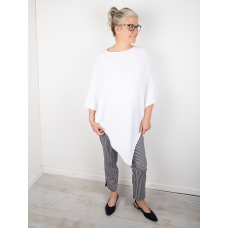 Amazing Woman Poncho in Supersoft Knit  - White