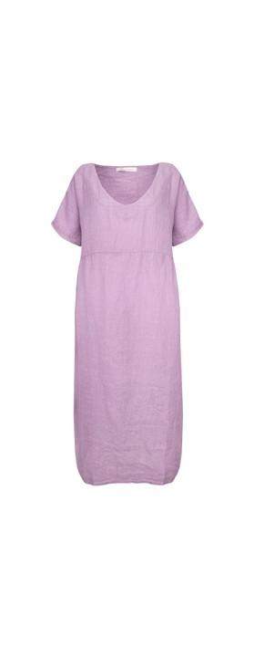 Amazing Woman Tesa Maxi Linen Dress Lilac