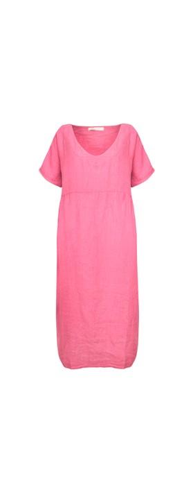 Amazing Woman Tesa Maxi Linen Dress Pink Confetti