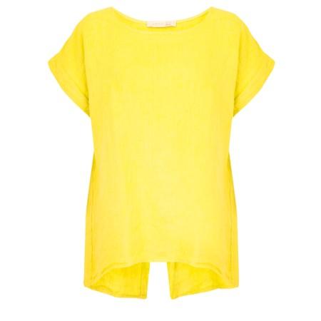 Amazing Woman Melia Short Sleeve Linen Top - Yellow