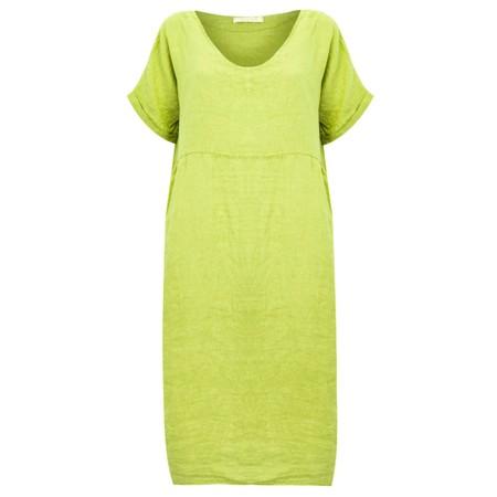 Amazing Woman Tesa Midi Lime Linen dress - Green