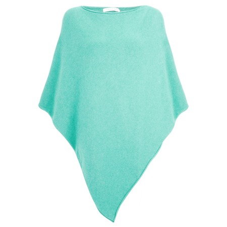 Amazing Woman Poncho in Supersoft Knit  - Turquoise