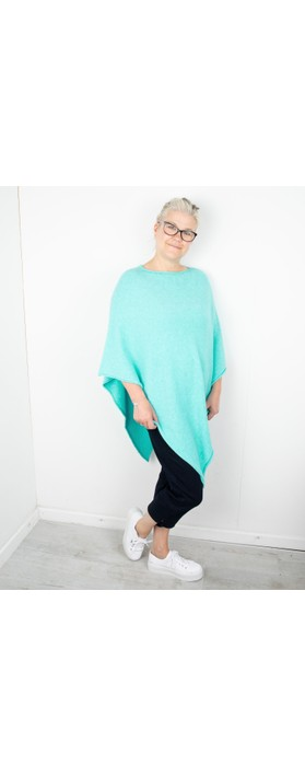 Amazing Woman Poncho in Supersoft Knit  Summer Turquoise