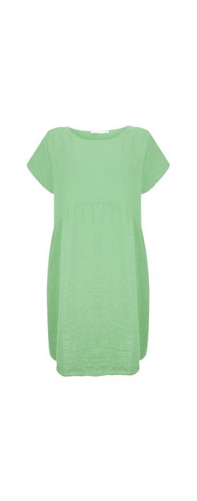 Amazing Woman Curve Lexia Curve Linen Dress Avocado
