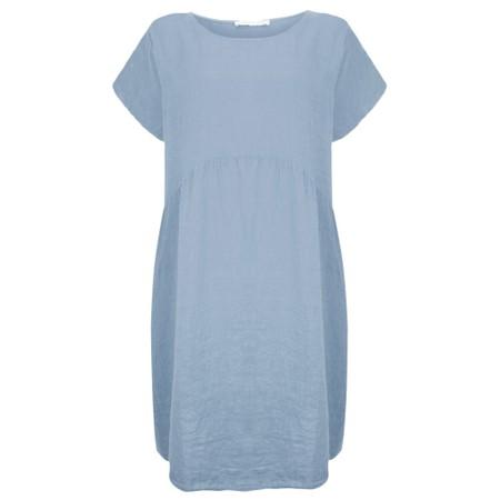 Amazing Woman Curve Lexia Curve Linen Dress - Blue