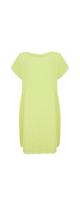 Amazing Woman Curve Lexia Curve Linen Dress Lime