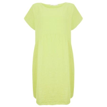 Amazing Woman Curve Lexia Curve Linen Dress - Green