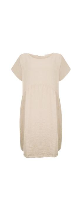 Amazing Woman Curve Lexia Curve Linen Dress Natural
