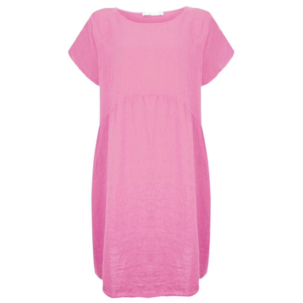 Amazing Woman Curve Lexia Curve Linen Dress Pink Confetti