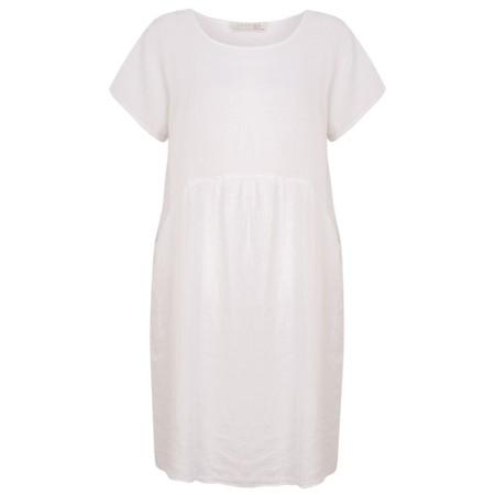 Amazing Woman Curve Lexia Curve Linen Dress - White