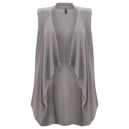 Focus Longline Sleeveless Waistcoat - Grey