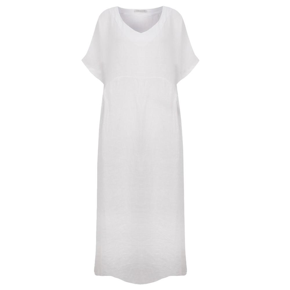 Amazing Woman Curve Tesa Curve Midi Dress White