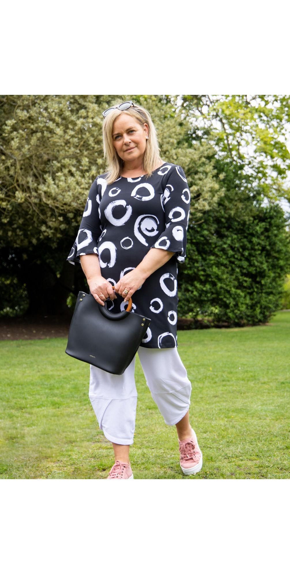 Fluted Sleeve Tunic Dress main image