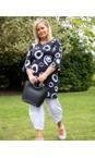 Focus Polka Dot Black Fluted Sleeve Tunic Dress