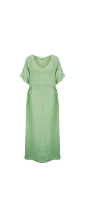 Amazing Woman Curve Tesa Curve Midi Dress Avocado