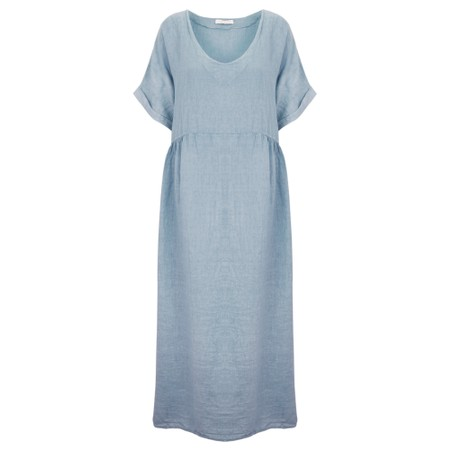Amazing Woman Curve Tesa Curve Midi Dress - Blue
