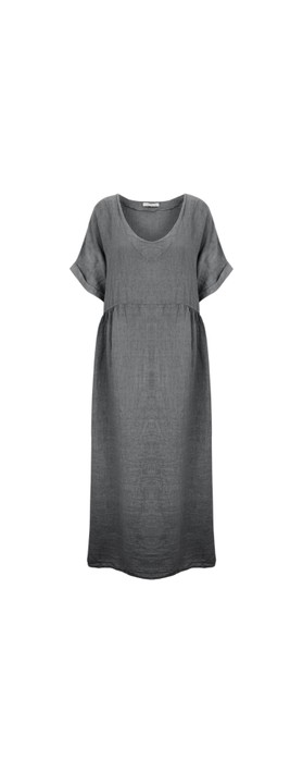 Amazing Woman Curve Tesa Curve Midi Dress Charcoal