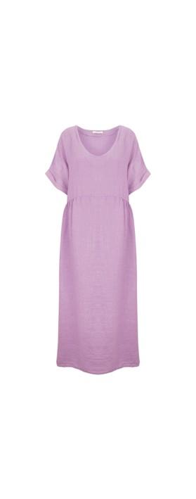 Amazing Woman Curve Tesa Curve Midi Dress Lilac